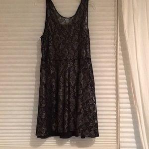 Express black silver dress